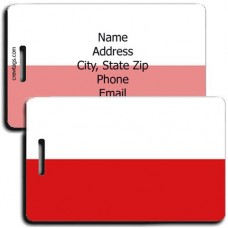 POLAND FLAG PERSONALIZED LUGGAGE TAG