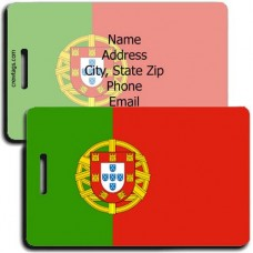 PORTUGAL FLAG PERSONALIZED LUGGAGE TAG