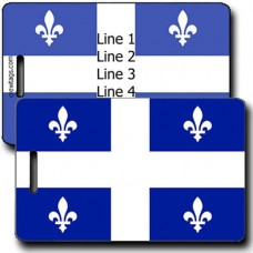 PROVINCE OF QUEBEC PERSONALIZED FLAG LUGGAGE TAG