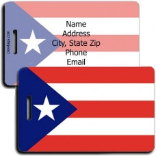 PUERTO RICO PERSONALIZED FLAG LUGGAGE TAG