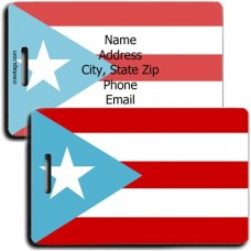 PUERTO RICO PERSONALIZED FLAG LUGGAGE TAG - ORIGINAL