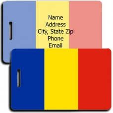 ROMANIA PERSONALIZED FLAG LUGGAGE TAG