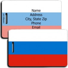 RUSSIA FEDERATION PERSONALIZED FLAG LUGGAGE TAG