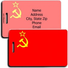 RUSSIA HAMMER AND SICKLE FLAG LUGGAGE TAG