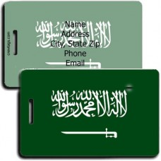 SAUDI ARABIA FLAG LUGGAGE TAGS