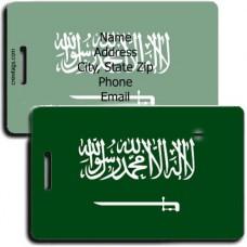 SAUDI ARABIA FLAG LUGGAGE TAGS
