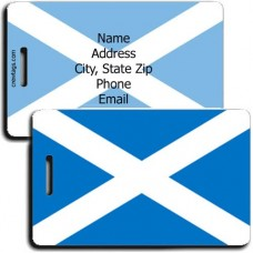 SCOTLAND ST ANDREWS PERSONALIZED FLAG LUGGAGE TAG
