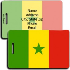 SENEGAL FLAG LUGGAGE TAGS
