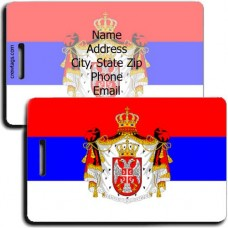 SERBIA PERSONALIZED FLAG LUGGAGE TAG