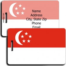 SINGAPORE PERSONALIZED FLAG LUGGAGE TAG