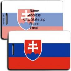 SLOVAKIA FLAG LUGGAGE TAGS
