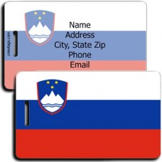SLOVENIA STATE PERSONALIZED FLAG LUGGAGE TAG