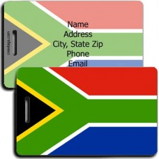 SOUTH AFRICA PERSONALIZED FLAG LUGGAGE TAG