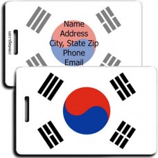 SOUTH KOREA PERSONALIZED FLAG LUGGAGE TAG
