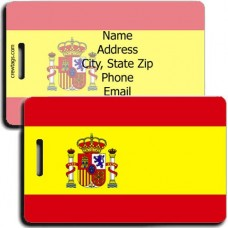 SPAIN FLAG PERSONALIZED LUGGAGE TAG