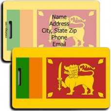 SRI LANKA FLAG LUGGAGE TAGS