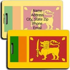 SRI LANKA FLAG LUGGAGE TAGS