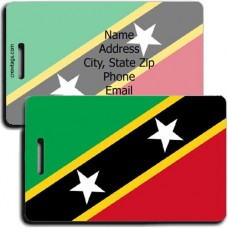 ST CHRISTOPHER AND NEVIS FLAG LUGGAGE TAGS