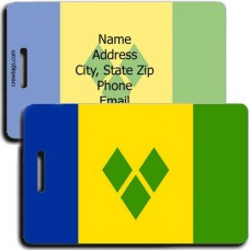 ST VINCENT AND THE GRENADINES FLAG LUGGAGE TAG
