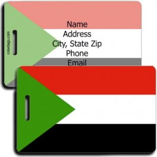SUDAN FLAG LUGGAGE TAG