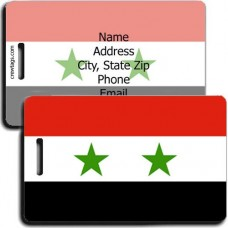 PERSONALIZED SYRIA FLAG LUGGAGE TAGS