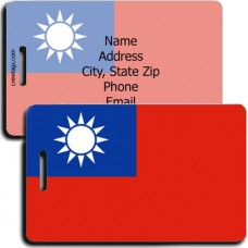 PERONALIZED TAIWAN FLAG LUGGAGE TAGS