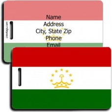 PERSONALIZED TAJIKISTAN FLAG LUGGAGE TAGS