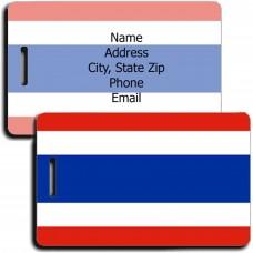 THAILAND FLAG LUGGAGE TAG