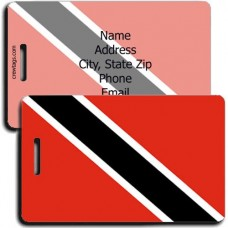 PERSONALIZED TRINIDAD AND TOBAGO FLAG LUGGAGE TAGS