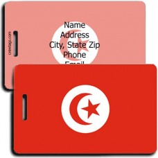 PERSONALIZED TUNISIA FLAG LUGGAGE TAGS
