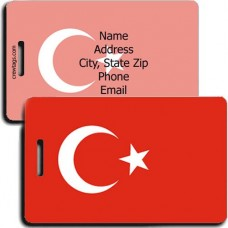 PERSONALIZED TURKEY FLAG LUGGAGE TAGS