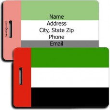 PERSONALIZED UNITED ARAB EMIRATES FLAG LUGGAGE TAGS
