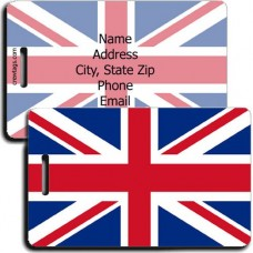 PERSONALIZED UNITED KINGDOM FLAG LUGGAGE TAGS
