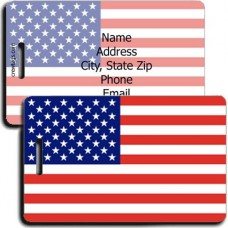 UNITED STATES OF AMERICA FLAG LUGGAGE TAGS