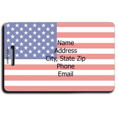 UNITED STATES OF AMERICA FLAG PERSONALIZED LUGGAGE TAGS