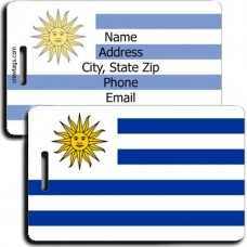 PERSONALIZED URUGUAY FLAG LUGGAGE TAGS