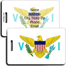 PERSONALIZED US VIRGIN ISLANDS FLAG LUGGAGE TAGS