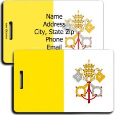 VATICAN CITY FLAG LUGGAGE TAGS