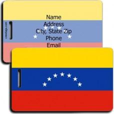 VENEZUELA FLAG LUGGAGE TAGS