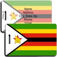 ZIMBABWE FLAG LUGGAGE TAGS