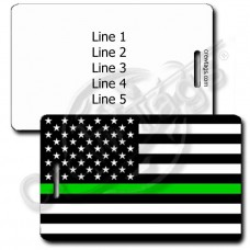 THIN GREEN LINE FLAG LUGGAGE TAG