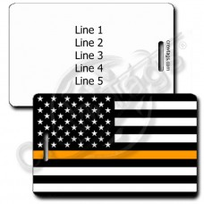 THIN ORANGE LINE FLAG LUGGAGE TAG