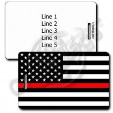 THIN RED LINE FLAG LUGGAGE TAG