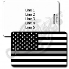 THIN SILVER LINE FLAG LUGGAGE TAG