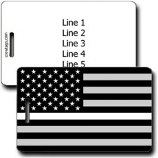 THIN WHITE LINE FLAG LUGGAGE TAG