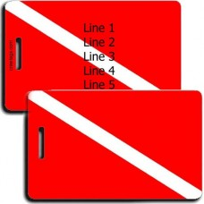 PERSOALIZED DIVE FLAG LUGGAGE TAGS