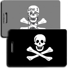 PERSONALIZED JOLLY ROGER PIRATE FLAG LUGGAGE TAGS