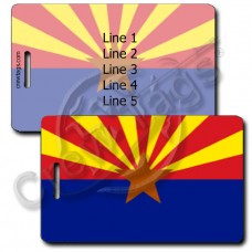 ARIZONA STATE FLAG LUGGAGE TAGS
