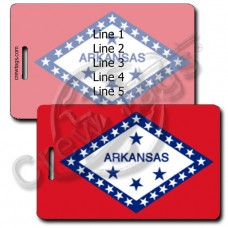 ARKANSAS STATE FLAG LUGGAGE TAGS