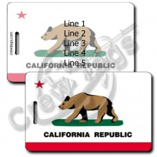 CALIFORNIA STATE FLAG LUGGAGE TAGS